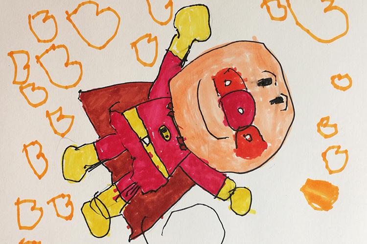 三歳児の描く絵アンパンマンやドラえもんのイラスト フィルムカメラ
